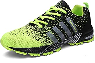 KUBUA Mens Running Shoes Trail Fashion Sneakers Tennis Sports Casual Walking Athletic Fitness Indoor and Outdoor Shoes for Men 10.5 B / 8.5 D F Green