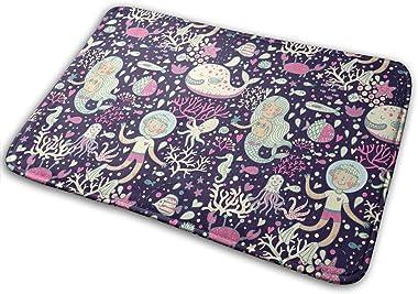 Underwater Cartoon World Carpet Non-Slip Welcome Front Doormat Entryway Carpet Washable Outdoor Indoor Mat Room Rug 15.7 X 23