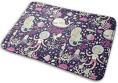 Underwater Cartoon World Carpet Non-Slip Welcome Front Doormat Entryway Carpet Washable Outdoor Indoor Mat Room Rug 15.7 X 23.6 inch