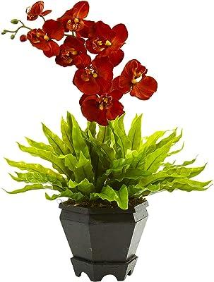 Artificial Flowers -Birds Nest and Orchid Combo Withanter Arrangement Artificial