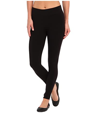 HUE Ultra Leggings w/ Wide Waistband (Black) Women