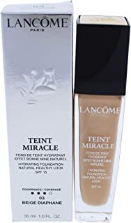 Lancome Teint Miracle Hydrating Foundation SPF 15-03 Beige Diaphane for Women - 1 oz