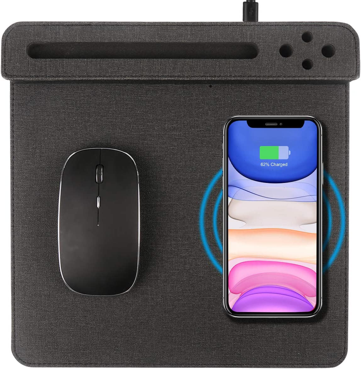VHEONET San Antonio Mall Wireless Max 69% OFF Charger Mouse Charging 10W Pad QI