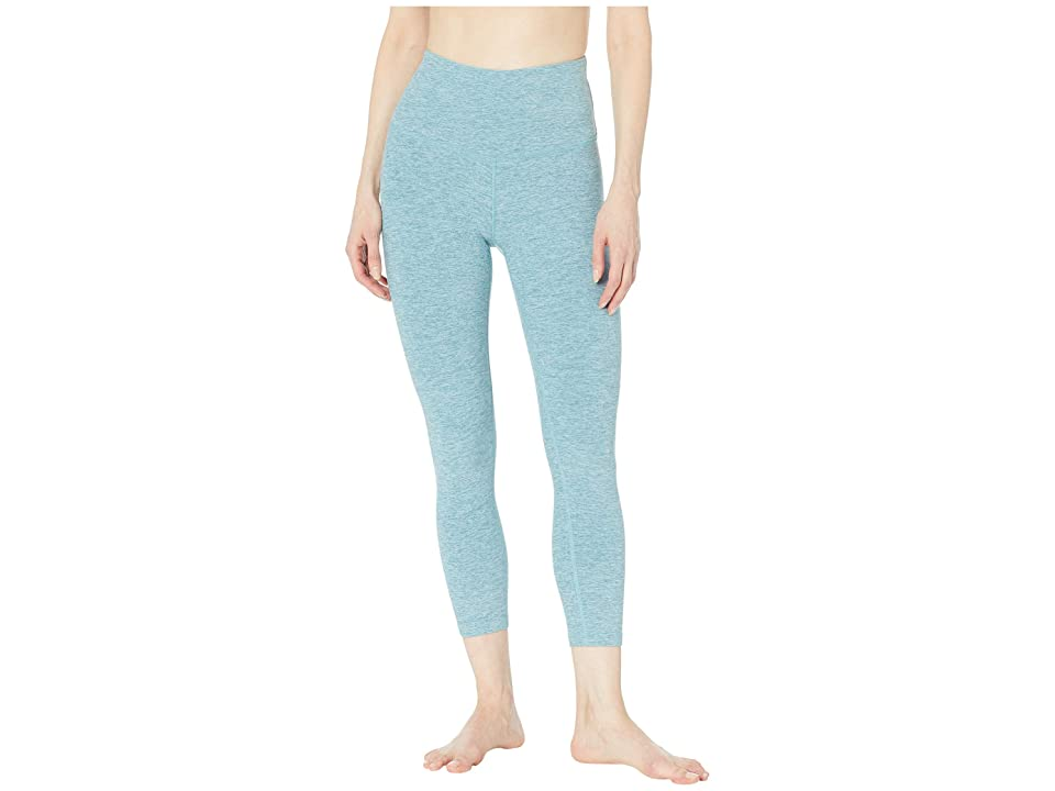 Beyond Yoga Spacedye High-Waisted Capri Leggings (Blue Crush/Sky Blue) Women