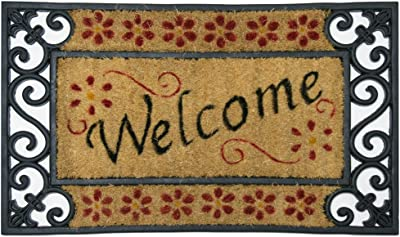 """Rubber-Cal """"Welcome Home Coir Rubber Doormat, 18 by 30-Inch"""