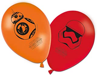 """Unique Party 72199 - 11"""" Latex Star Wars 7 Balloons, Pack of 8"""