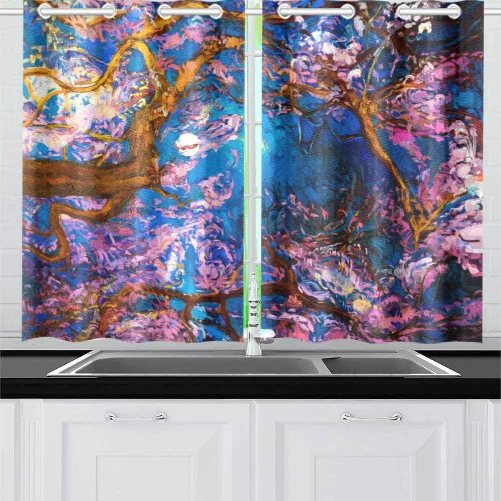 Award-winning store INTERESTPRINT Blackout Mail order Kitchen Window Panel Small Treatments Dra