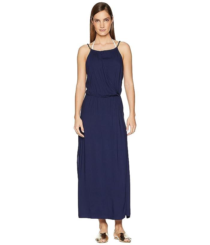 Heidi Klein Ibiza Drop Waist Maxi Dress Cover-Up (Navy) Women