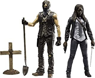 McFarlane Toys The Walking Dead TV Series 9 Muddy Grave Digger Daryl Dixon & Constable Michonne Action Figure Set of 2