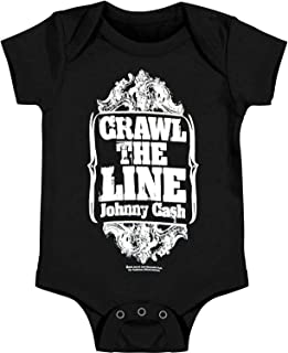 Zion Johnny Cash Bodysuit 'Crawl The Line' Infant Onesie