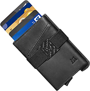ManChDa Wallet, Mens Leather Credit Card Holder, RFID Blocking Card Holder, Removable Automatic Pop-up Slim Wallet, Money ...
