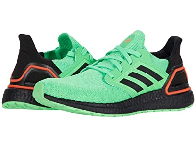 adidas Kids UltraBOOST 20 (Big Kid) (Shock Lime/Black/Solar Orange) Kid