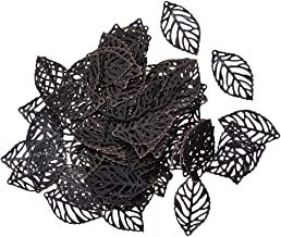 Baoblaze 100 Pieces Vintage Metal Tree Charms Retro Leaf Pendant for Jewelry Making 23 * 13mm - Retro Copper