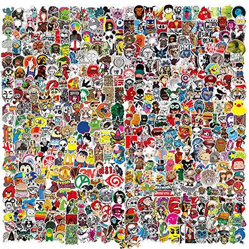 500pcs Sticker Packs for Adults Teens Kids,5 Styles Cute Aesthetic Vinyl Waterproof Cool Bulk Stickers for Laptop Skateboard Computer Water Bottles Car Bumper Luggage Bike Phone Decals