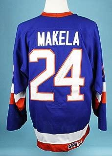 1987-88 Mikko Makela Game Worn Signed New York Islanders Jersey MEARS A10 COA