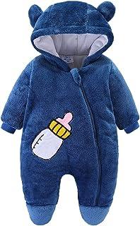 طفل رضيع الفتيات الصبي زيبر رومبير الرضع رشاقته مقنع بذلة القدم بذلة (Color : Navy Blue, Size : 6-9 Months)