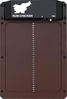 Run-Chicken Model T40, Automatic Chicken Coop Door, Full Aluminum Doors, Powder Coated, Light Sensing,  Evening and Morning Delayed Opening Timer