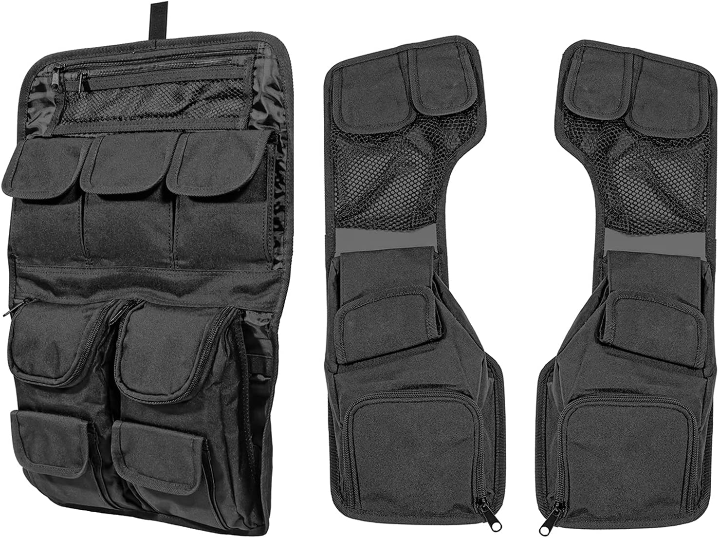 Dasen Black Organizer Storage Bags Pouch Kit Compatible with Luggage Tour Pack Pak & Saddlebags Lid Compatible with Harley Touring Road King Electra Road Street Glide FLT FLH 1999-2013: Automotive