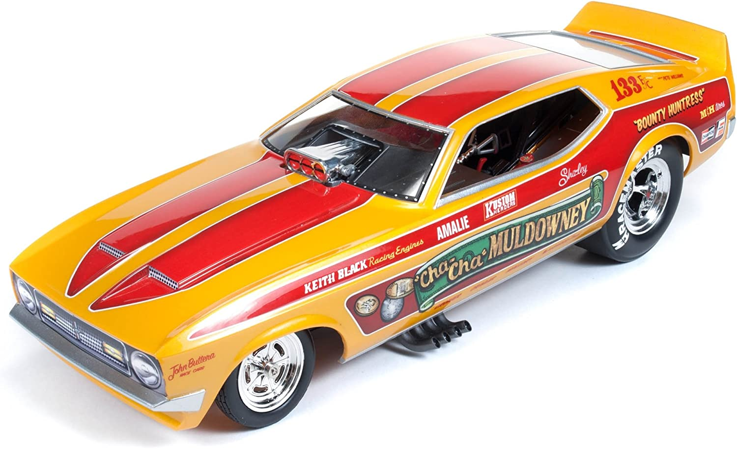 """Auto World 1972 Ford Mustang Shirley """"Cha Cha"""" Muldowney Funny Car 1 18"""