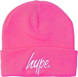 HYPE Gorro, color rosa fluorescente, talla única.