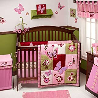Emily 9 Piece Baby Crib Bedding Set with Bumper by Nojo