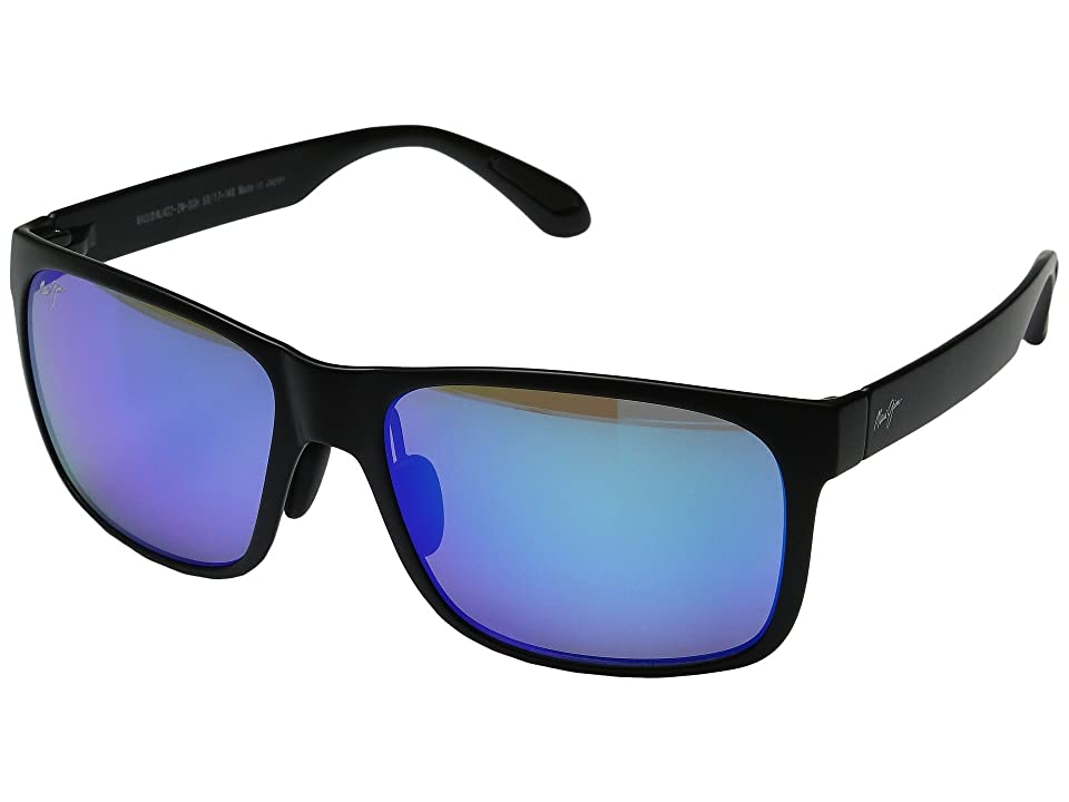 Maui Jim Red Sands (Matte Black/Blue Hawaii) Fashion Sunglasses