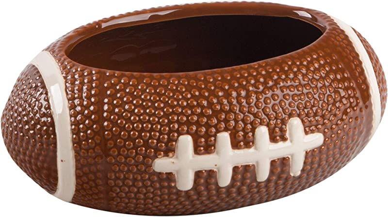 KOVOT Football Dip Bowl Dish Ceramic Football Shaped 23 Ounce Bowl Measures 7 X 5 X 3