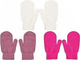PZLE Kids Knit Mittens Winter Cashmere Warm Stretch 3/4 Pairs