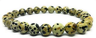 Natural Stone 8mm Gemstone Beaded Adjustable Stretch Bracelet Mens Women 7 inches Box Meaning Card