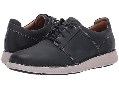 Clarks Un Larvik Lace (Navy Oily Leather) Men
