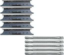 Direct Store Parts Kit DG193 Replacement Master Forge 5 Burner Gas Grill L3218, 3218LTN Grill Burner, Heat Plate (SS Burner + Porcelain Steel Heat Plate)