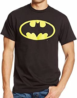 DC Comics Men's Batman GLOW IN THE DARK Basic Logo T-Shirt