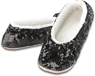 Ballerina Bling Metallic Shine Women Slippers | Sequin House Slippers for Women | Slipper..