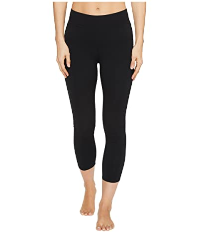 Hard Tail High-Rise Capri Leggings (Black) Women
