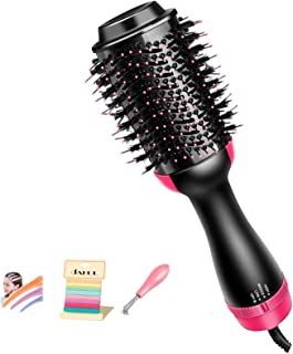 One Step Hair Dryer and Styler, Hair Dryer Brush, 3 in 1 Hot Air Brush - Negative Ion Hair Dryer, Straightener & Curler