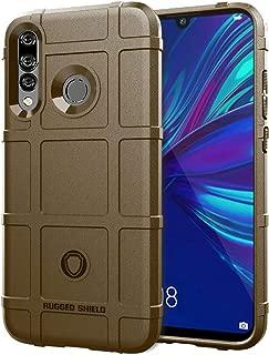 携帯電話ソフトケース Huawei P Smart 2019用耐衝撃性頑丈シールドフルカバレッジ保護シリコンケース ソフトケース (色 : Brown)