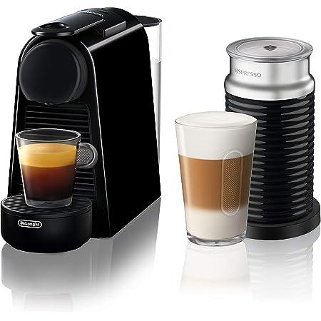 Nespresso Essenza Mini Espresso Machine by DeLonghi with Aeroccino, Black (Renewed)