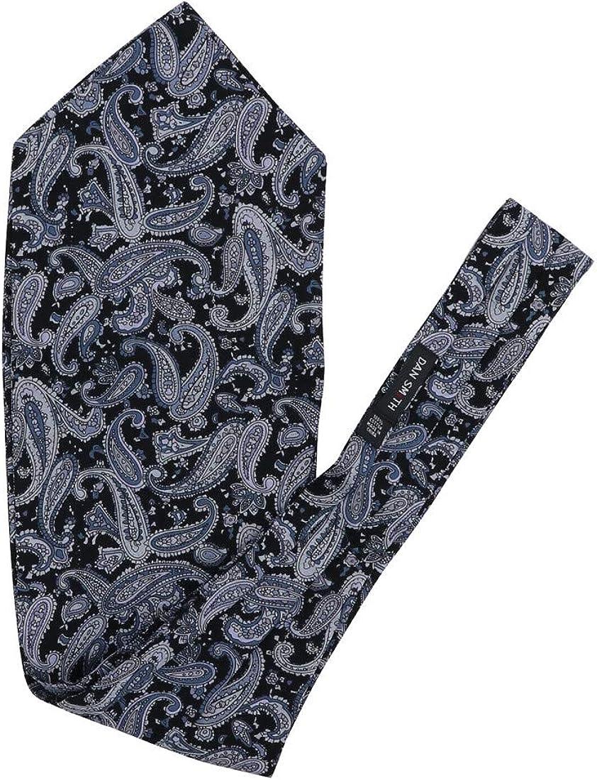 Dan Smith Men's Fashion Floral Men's Cotton Cravat Hanky Set Ascot Tie