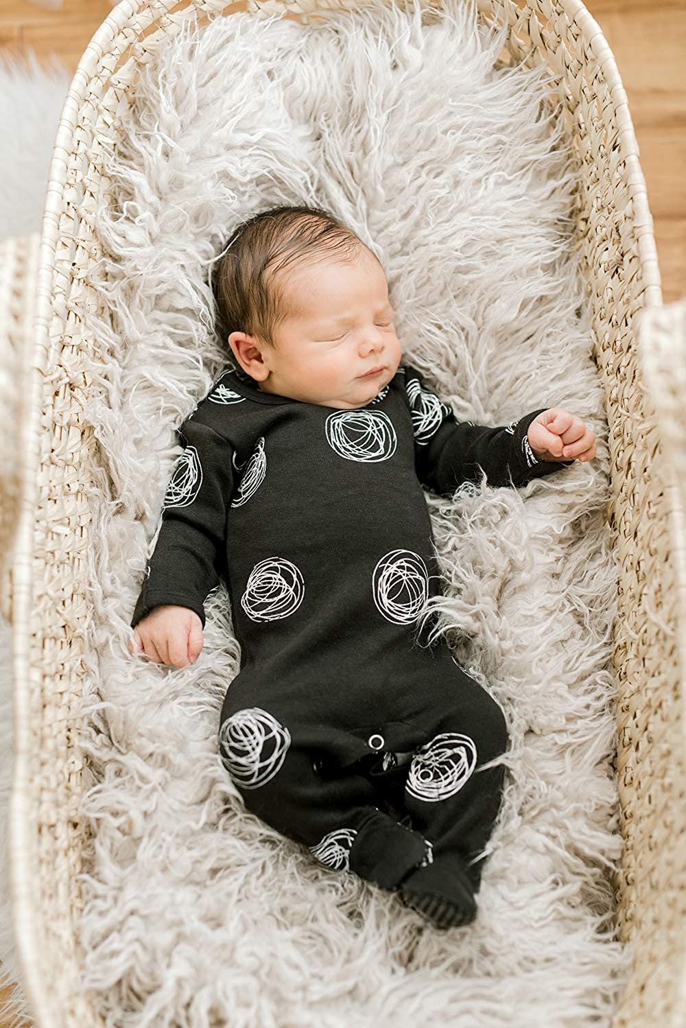 Lovedbaby Organic Baby Footie Graphic Back-Snapped Footed Overall