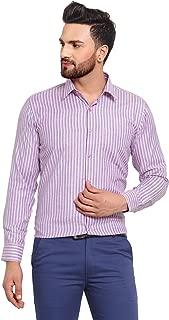 English Navy Men's Slim Fit Formal Shirt (2038Blue-Pink_Blue & Pink_38)