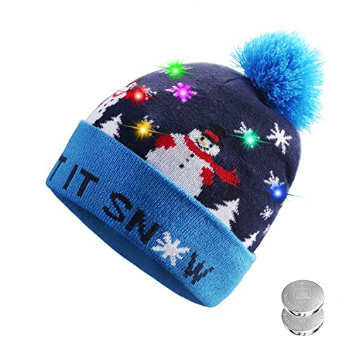 f32598dad8a TAGVO LED Light Up Hat Beanie Knit Cap