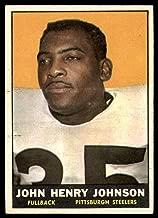 Football NFL 1961 Topps #105 John Henry Johnson EX Excellent Steelers