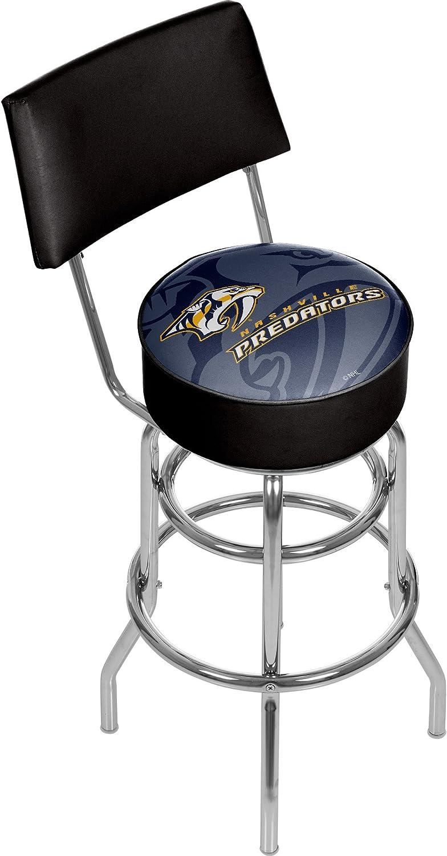 Trademark Gameroom NHL1100NPWM NHL Swivel bar Stool with Back  Watermark  Nashville Predatorsa