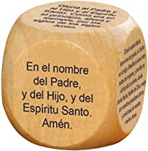 Prayer Cubes Wooden with Favorite Catholic Prayers in Spanish, 1 5/8 Inch