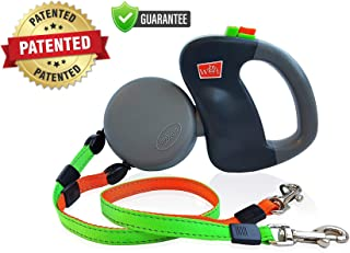 WIGZI – Authentic – USA Patented -(2) Two Dog Reflective Retractable Pet..