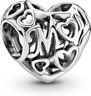 Pandora Jewelry - Openwork Mum Heart Charm in Sterling Silver