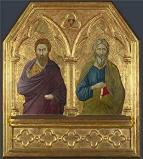 Oil Painting 'ugolino Di Nerio-Saint Bartholomew And Saint Andrew,about 1324-5' 20 x 22 inch / 51 x 56 cm , on High Definition HD canvas prints is for Gifts And Bed Room, Kitchen And Laundry R decor