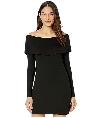 LAmade Lula 2x1 Modal Stretch Rib Dress (Black) Women