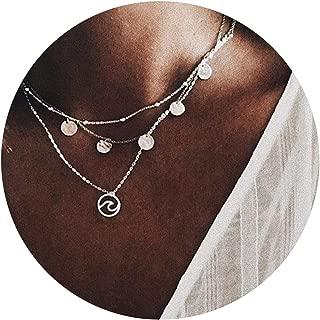 Halskette Gold Modeschmuck 4-reihig Schmuck Blogger love Anhänger Boho Vintage