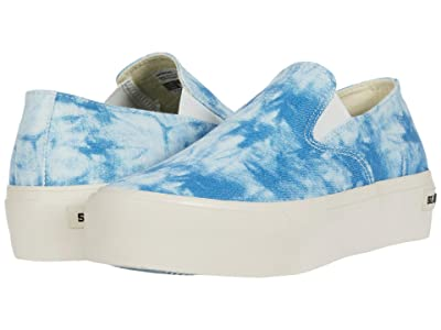 SeaVees Baja Slip-On Platform Tie-Dye (Blue) Women